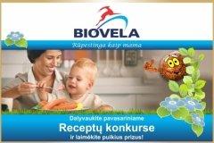 """Konkursas """"Skaniausias MAMOS pavasario receptas su Biovela!"""""""