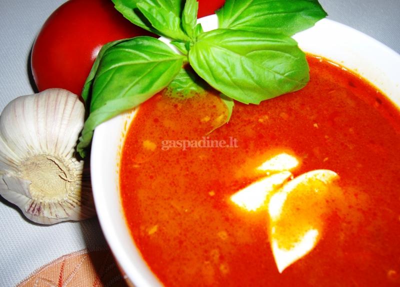 Pomidorinė Sriuba Su Cukinija Ir Ryžiais Receptas Gaspadinelt