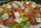 Salotos su lašiša ir feta