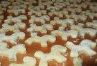 Varškės sausainiai su šokolado glaistu
