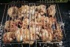 Viščiukas marinuotas ir keptas ant laužo