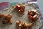 Bandelės su obuoliais