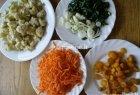 Kepti kalafiorai su daržovėmis