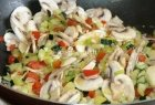 Makaronai su daržovėmis ir pievagrybiais