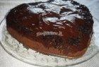 Šokoladinis pyragas su varškės kamuoliukais