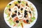 Pikantiškos krevečių salotos