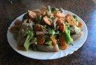 Kiauliena su šaldytomis daržovėmis
