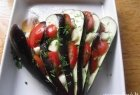 Įdarytas baklažanas su daržovėmis