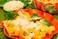 Makaronai su moliūgais ir vištiena