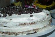 Sluoksniuotas biskvitinis tortas su braškėmis