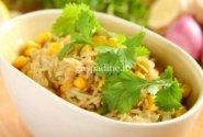 Ryžiai kiniškai su kukurūzais ir kalendromis