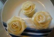 Balto šokolado rožytės