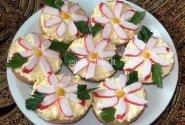Šventiški sumuštinukai su krabų lazdelėmis