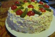 Pikantiškas užkandžių tortas visai šeimai