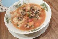 Daržovių sriuba su šampinjonais