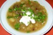 Grybų ir perlinių kruopų sriuba