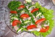 Silkės užkandis su daržovėmis