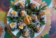 Sumuštiniai su karštai rūkyta skumbre ir apelsinu