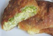 Vyniotinis su brokoliais ir omletu