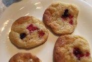 Varškės sausainiai su serbentais