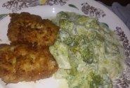 Troškinti brokoliai grietinėlės padaže