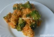 Kepti ryžiai su brokoliais