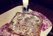 Obuolių pyragas su kakava