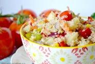Vasariškos salotos su bolivine balanda ir daržovėmis