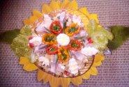 Silkės salotos su putpelių kiaušiniais