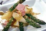 Salotos su lašiša ir šparagais