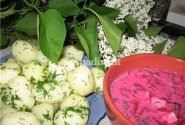 Šaltibarčiai su bulvėmis