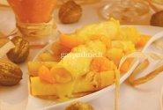 Apelsininiai blyneliai su pudingu