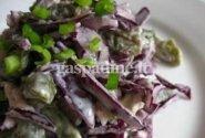Mėlynųjų kopūstų salotos su vištiena
