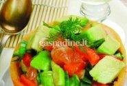 Avokadų ir greipfrutų salotos
