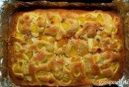 Pūkinis persikų pyragas
