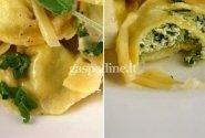 Itališki koldūniukai su ricotta ir špinatais bei sviesto ir šalavijų padažu