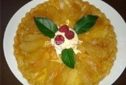 Apverstas prancūziškas obuolių pyragas