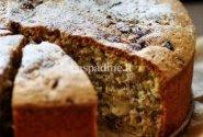 Obuolinis pyragas su riešutais