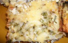 Varškes ir maltos mėsos apkepas su sūriu
