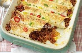 Meksikietiškas vištienos Enchiladas su padažu