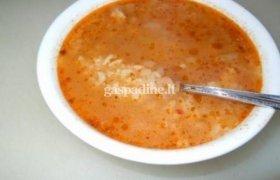 Paprasta sriubytė su mėsa