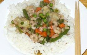 Krevetės su daržovėmis kiniškai