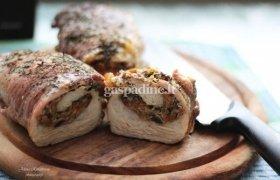 Mėsos vyniotinis su daržovių įdaru