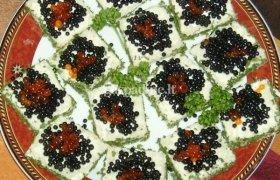 Šventiniai sumuštinukai su ikrais