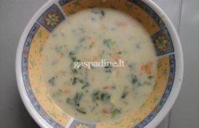 Burokėlių lapelių sriuba