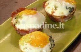 Kiaušiniai su kumpiu