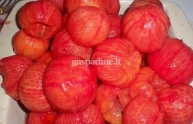 Pomidorai savo sultyse be odelių
