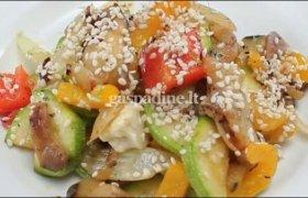 Silkė su daržovėmis