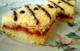 Kokoso drožlių pyragas su pertepimu