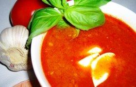 Pomidorinė sriuba su cukinija ir ryžiais